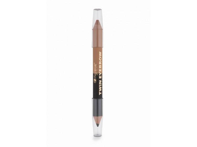 Dvoubarevná tužka na obočí - černá a krémová 2,8 g