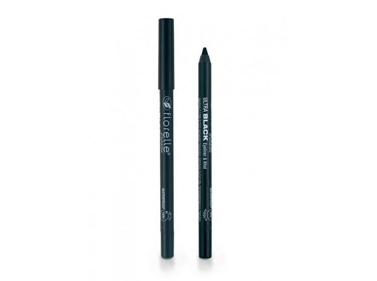 Černá, voděodolná tužka na oči 1,2 g